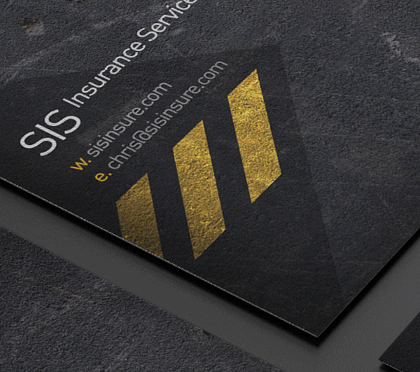 SIS business card redesign