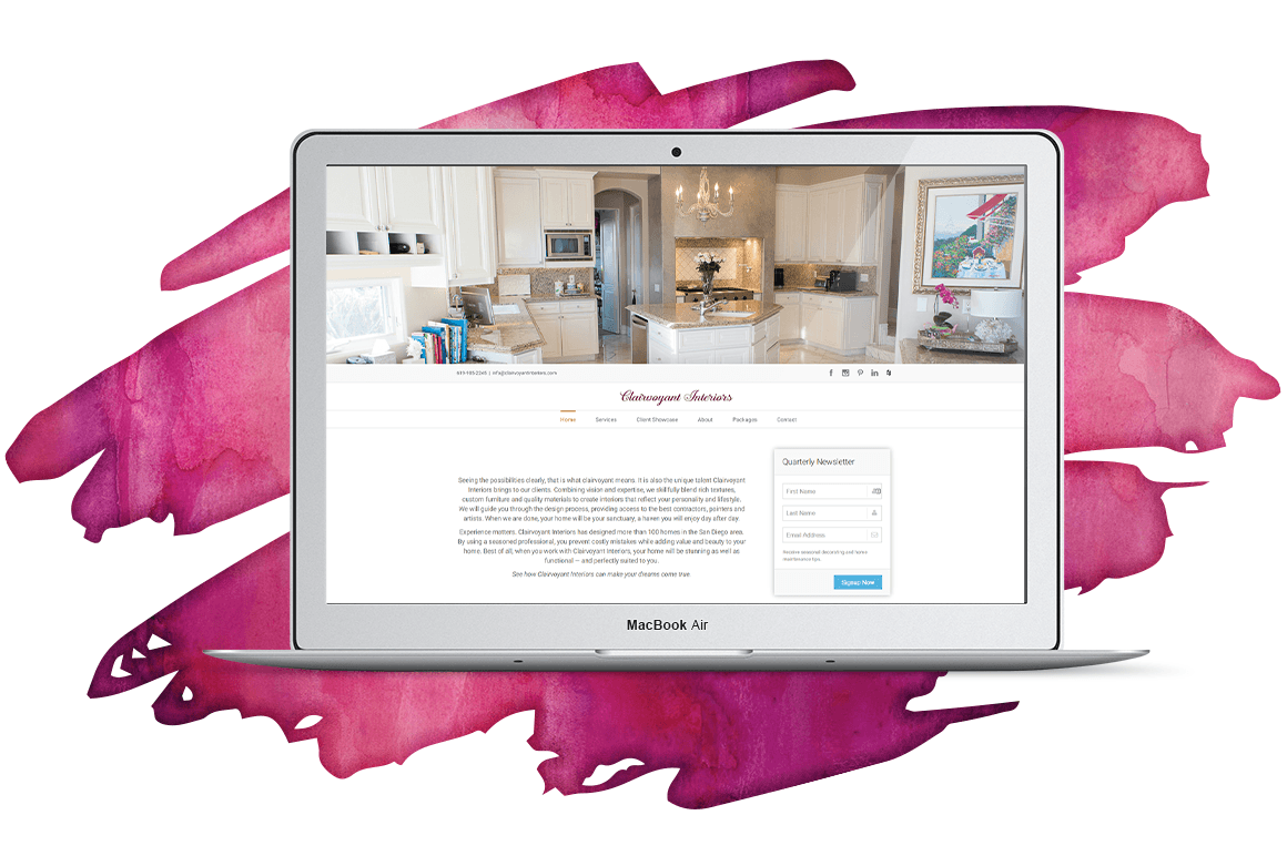 Clairvoyant Interiors Website Redesign