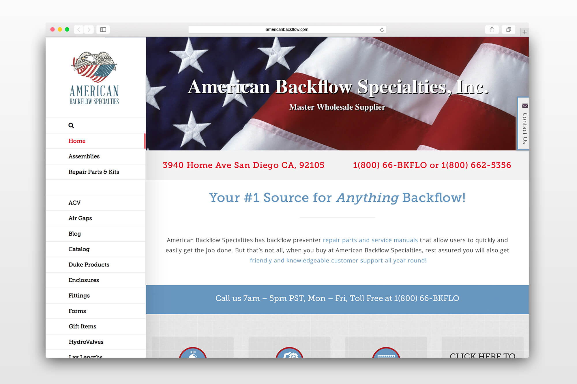 American Backflow Website Redesign