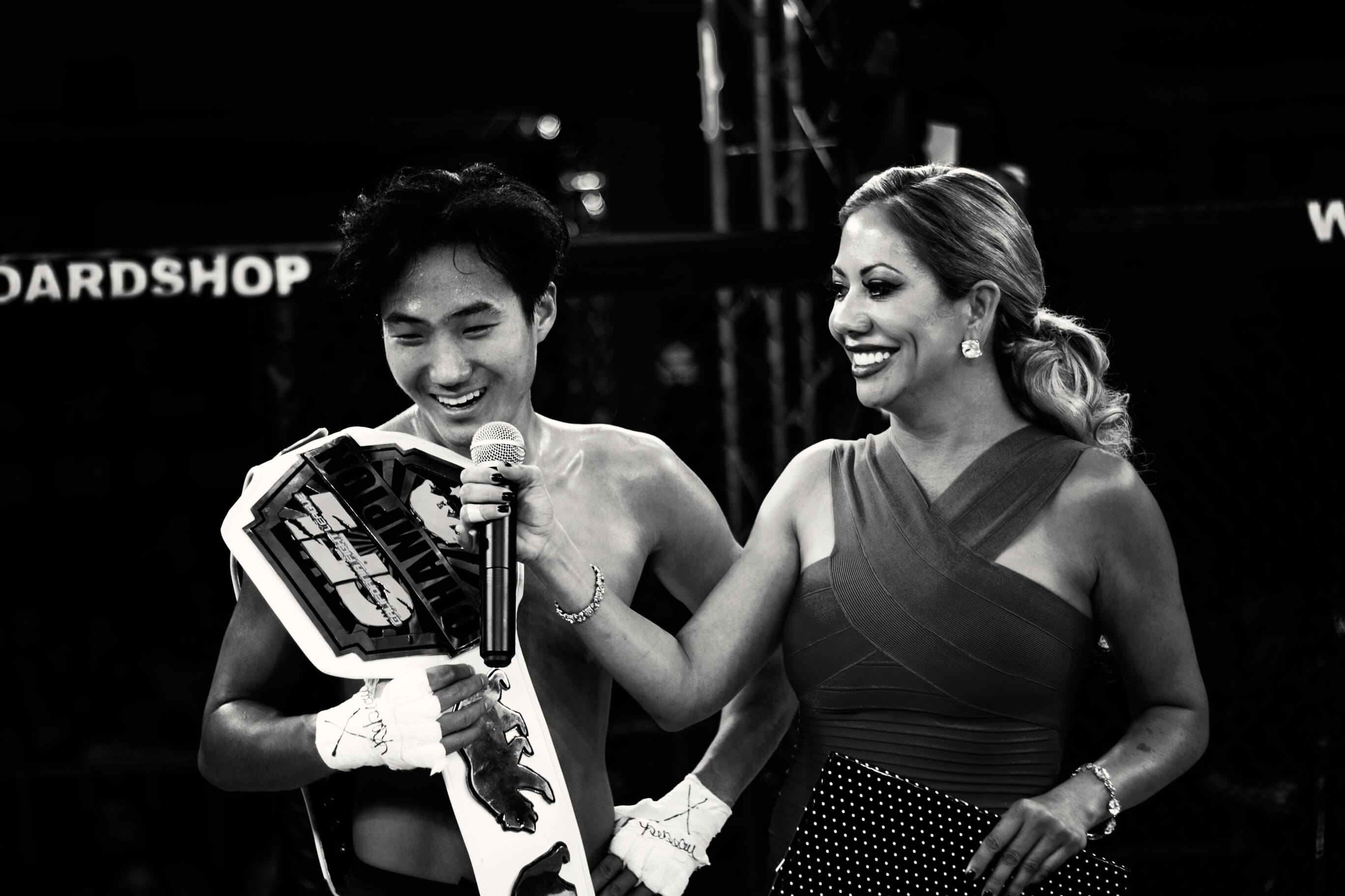 John Kim winning the championship belt at CFL VIII