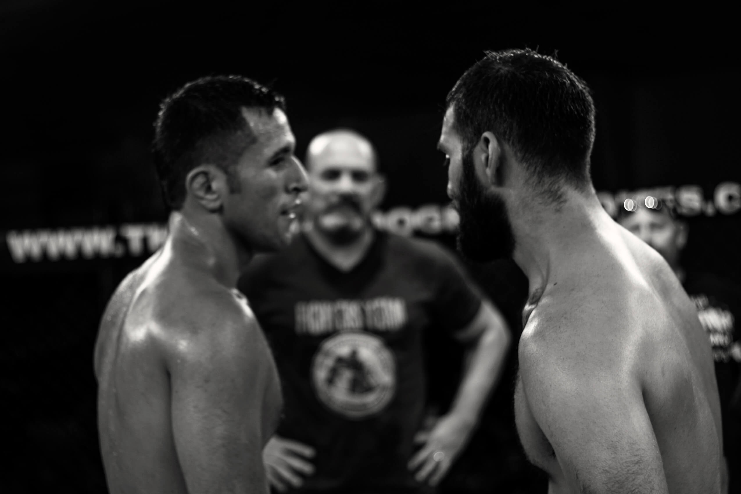 Jose Campos stare down after the fight at CFL VIII
